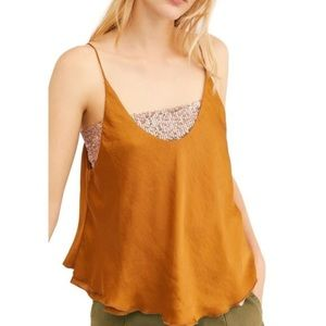 Free People New Turn It On Sequin Satin Cami Top